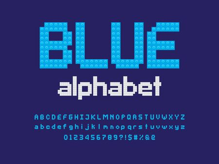 Vector alphabet design made of color blocks. Ilustração