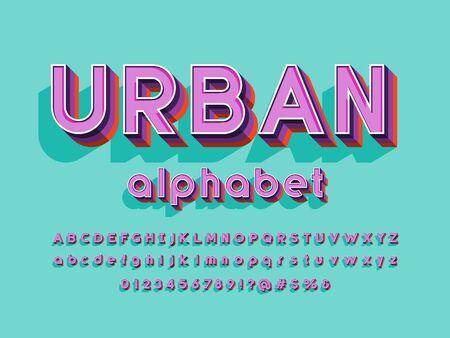 Vector of stylized modern alphabet design