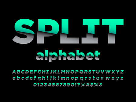 Vector of modern sliced style alphabet design