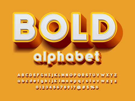 Vector of stylized modern bold alphabet design
