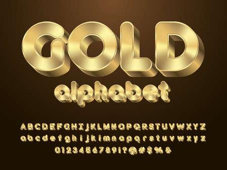 Vector of modern 3D bold alphabet design 矢量图像