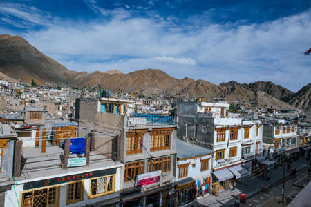 The whole Leh town is build around the mountain area, the old town is a compact area of mud brick houses and narrow lanes.