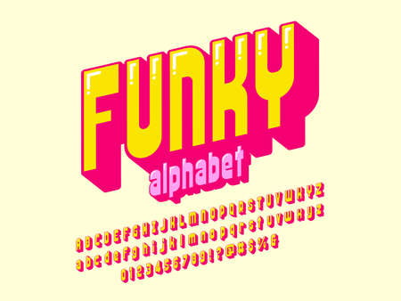 A groovy hippie style alphabet design with uppercase, lowercase, numbers and symbols