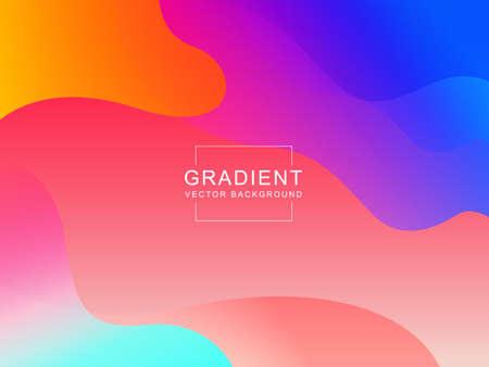 Modern vector template with colorful fluid graphic composition illustration Ilustração