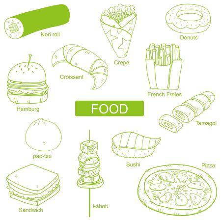 Food around the World Illusztráció