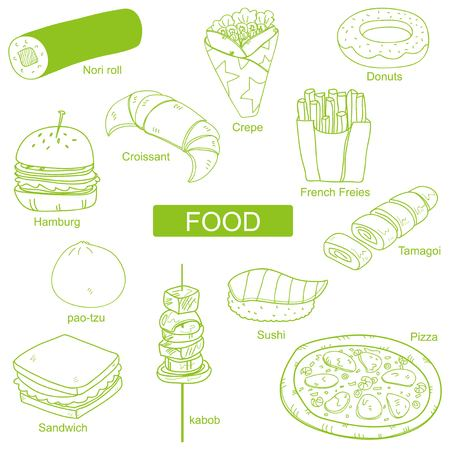 Food around the World Illustration