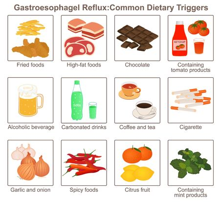 Gastroesophagel Reflux, Risk Factors 일러스트