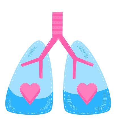 pulmon sano: Un concepto para los pulmones sanos del sistema respiratorio