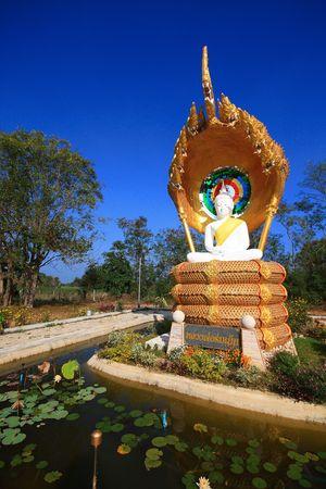 Blue sky Concentration Budha at Pakchong Thailand