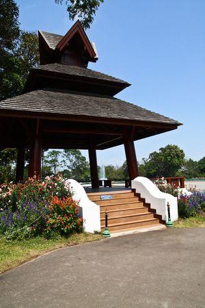Zen Pavilion at Doi Suthep Chiangmai Thailand Stock Photo
