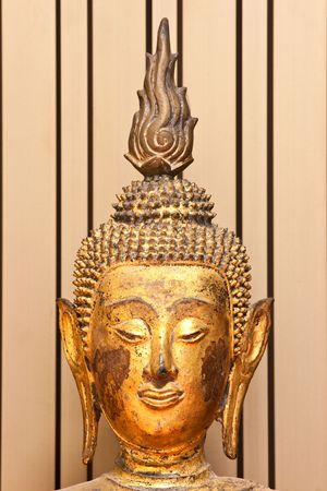 Ancient Budha face in Chinese style Stock Photo