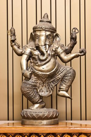 budha: Silver stand Ganesha in Thailand