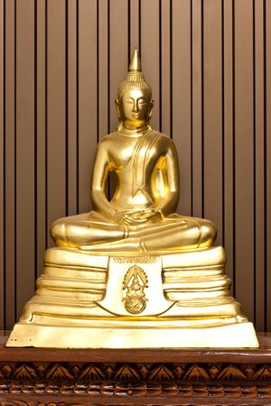 Golden Concentration Budha in Thailand