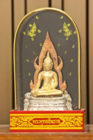 The Budha thai made from Gold Silver Bronze Budha in a box