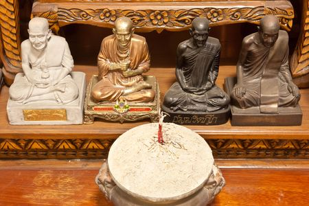 Four Famous Monks Statue in Thiland Stock Photo
