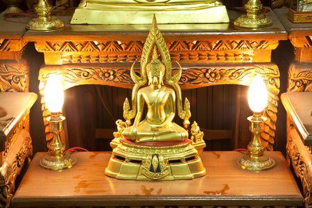 Golden Budha on rack Thailand