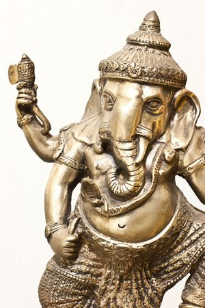Isolated Silver Ganesha in Thailand