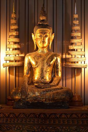 Dark Ancient Chinese Budha in Thailand