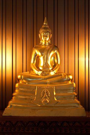 Dark Golden Concentration Budha in Thailand