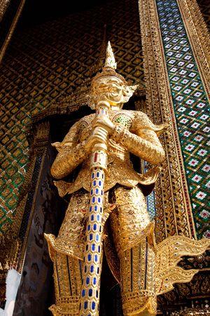 Golden Giant Wat Pra Kaeo Bangkok Thailand