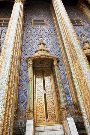 Palace Door Wat Pra Kaeo, Thailand Stock Photo
