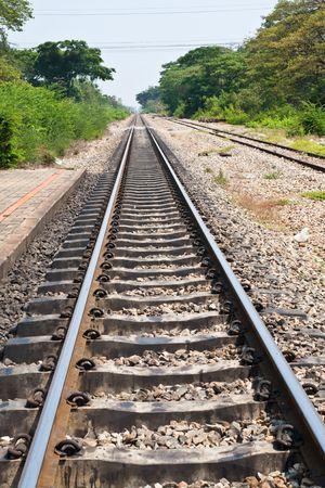 Petchburi Railway, Thailand Stock Photo