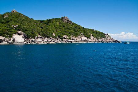 Edge of Nang-Yuan Island at the south of Thailand