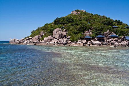 Nang-Yuan Resort at the south of Thailand