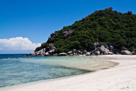 Sea Sand Nang-Yuan at the south of Thailand