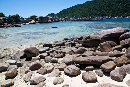 Nang-Yuan Rock Beach at the south of Thailand
