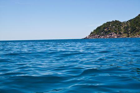Grean Sea Edge of Nang-Yuan at the south of Thailand