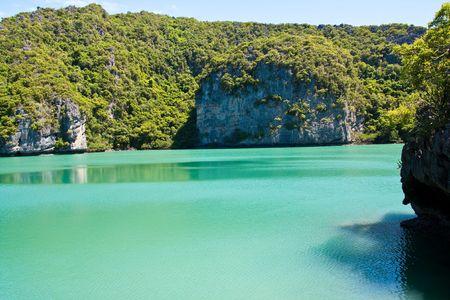 Emerald Pool side Ang-Thong Island , Thailand