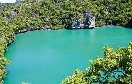 Emerald Pool Bird Eye at Ang-Thong Island Thailand