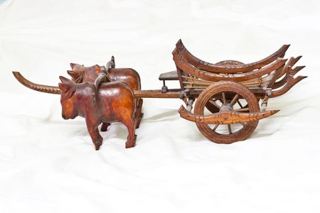 Isolated Thai Oxcart Model in Thailand
