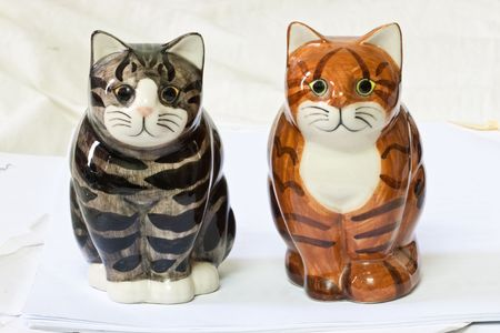 The Duo Stripe Cats model