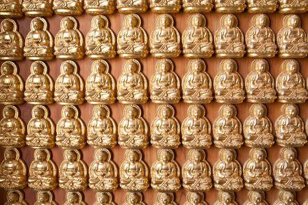 The Hundred Buddha wall Stock Photo