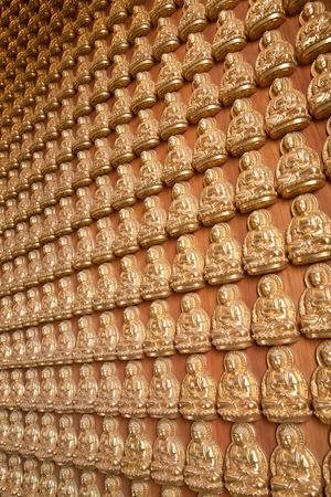 The Many Buddha Wall Stock Photo