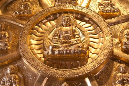 The Circle Buddha Wall Stock Photo - 6902701
