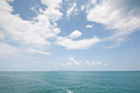 In the ocean, pattaya thailand Stock Photo