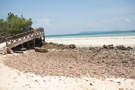 beach and bridge, pattaya thailand