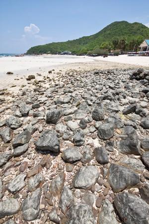 koh-lan rock beach island, pattaya thailand Stock Photo