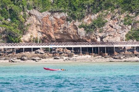 koh-lan long bridge, pattaya thailand Stock Photo