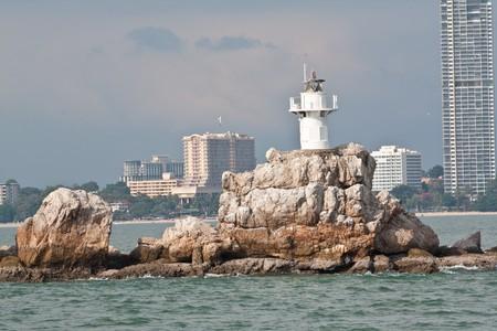 pattaya small lighthouse, thailand