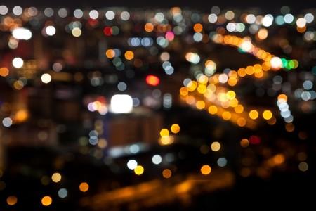 bokeh backgrond night town, pattaya thailand photo