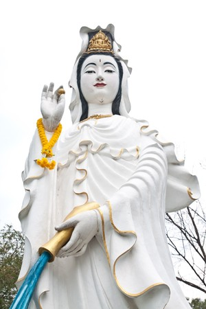 white quan-yin in chinese temple photo