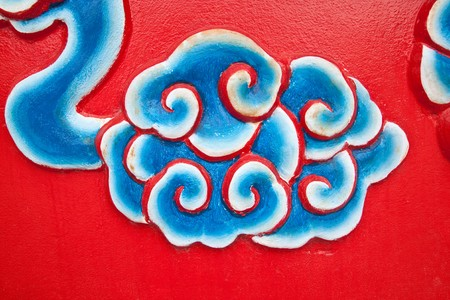 cloud painting wall in chinese temple