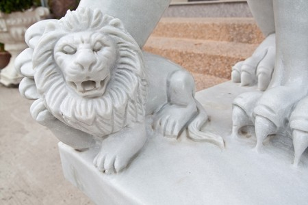 the white lion son in pattaya Stock Photo