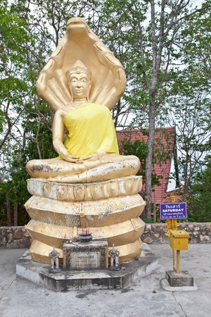 old concentration buddha in pattaya thailand