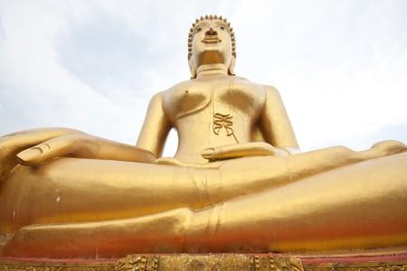 the majestic buddha in thai temple