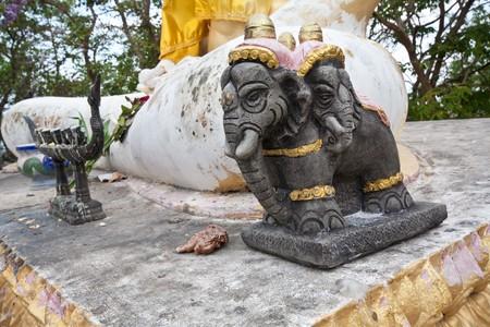 Weird elephant statue photo